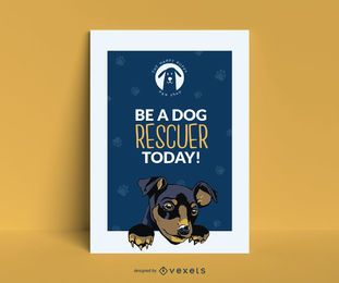 Design de pôster do Puppy Rescue