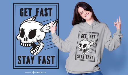 Design de t-shirt de crânio rápido