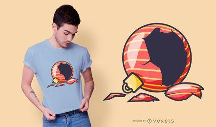 Diseño de camiseta de adorno roto