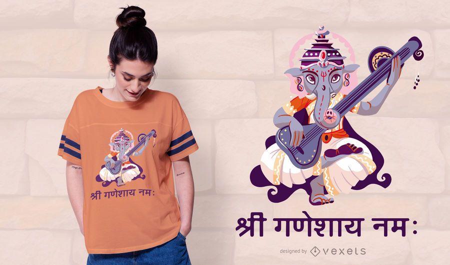 Diseño de camiseta Ganesha