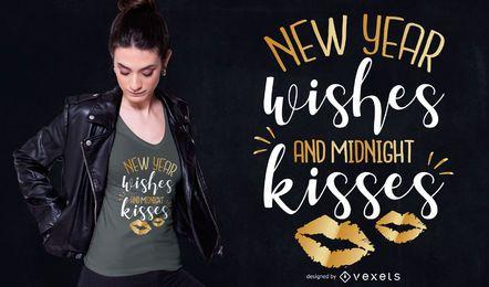 Diseño de camiseta de cotización de año nuevo