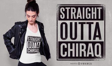 Diseño de camiseta Chiraq