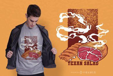 Diseño de camiseta de ensalada texana