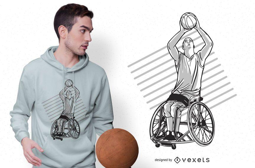 Wheelchair basketball t-shirt design