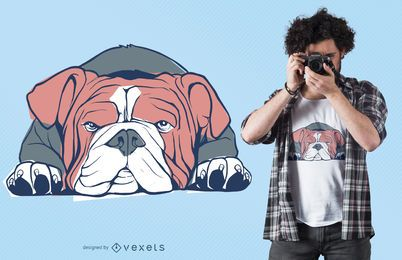 Diseño de camiseta de bulldog inglés
