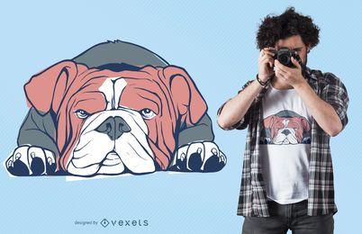 Englischer Bulldoggent-shirt Entwurf