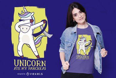 Diseño de camiseta de páncreas unicornio