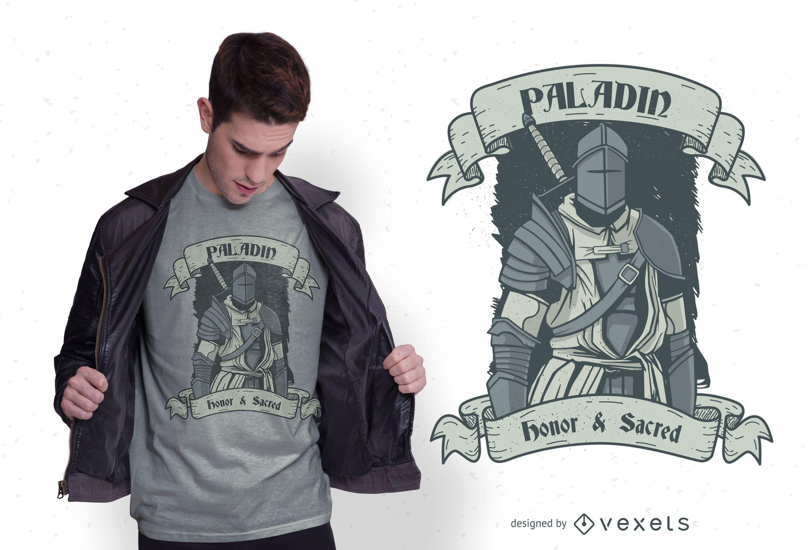 Diseño de camiseta Paladin