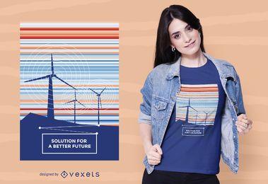 Melhor design futuro de camisetas