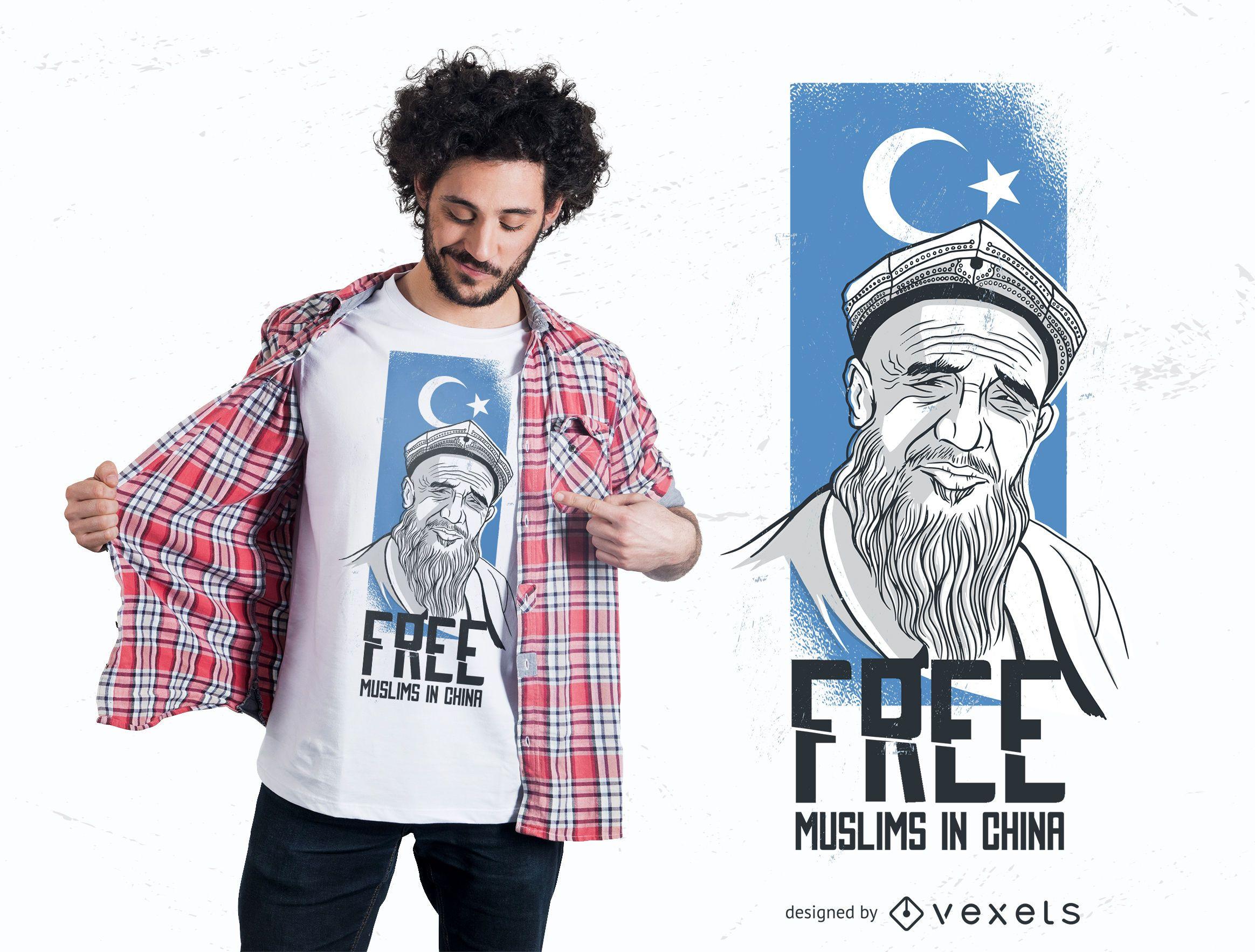 Diseño de camiseta musulmanes gratis