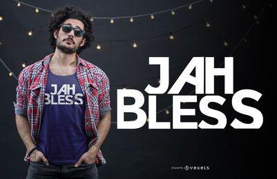 Jah abençoe design de t-shirt