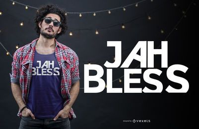 Jah bless t-shirt design