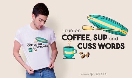 Paddelzitat-T-Shirt Entwurf