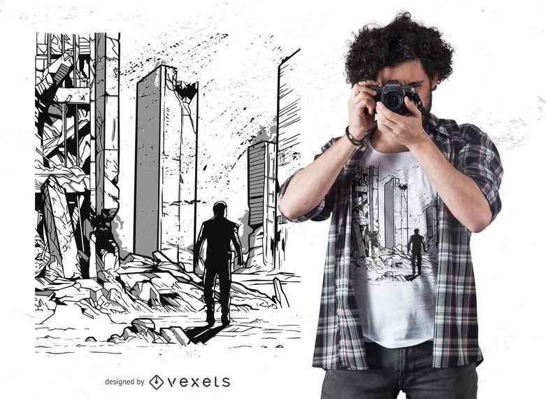 Design de t-shirt do apocalipse