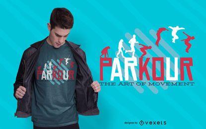 Design de camiseta com citações de Parkour