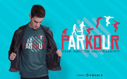 Diseño de camiseta de cotización parkour