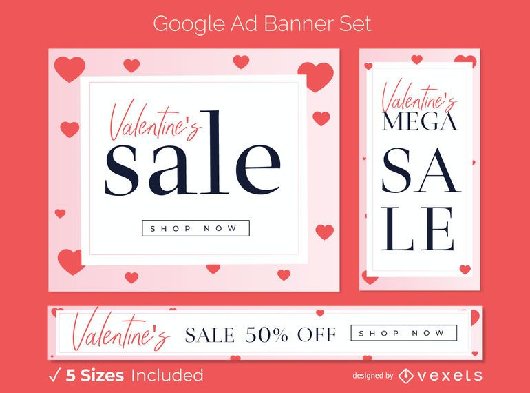 Conjunto de banner de anúncio de venda dos namorados