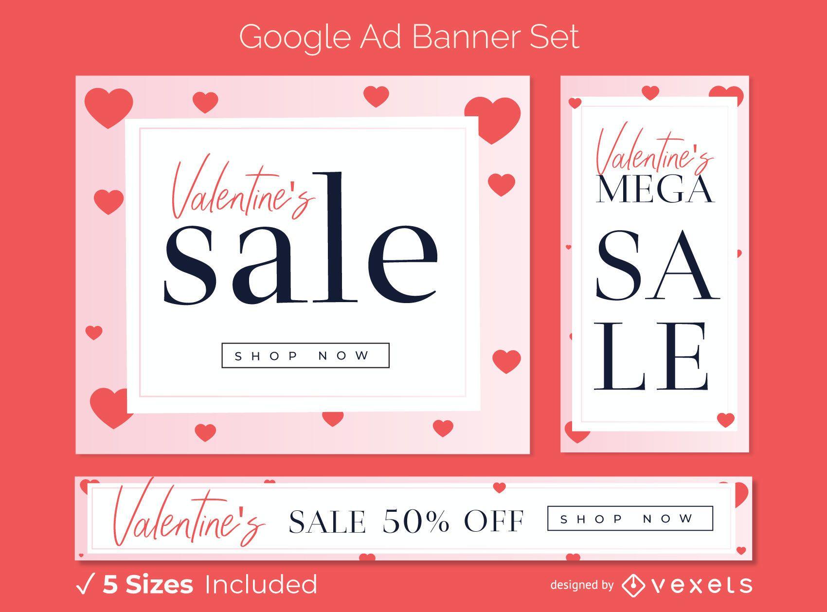 Conjunto de banner publicitario de venta de San Valent?n
