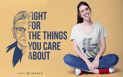 Ruth Bader Ginsburg t-shirt design