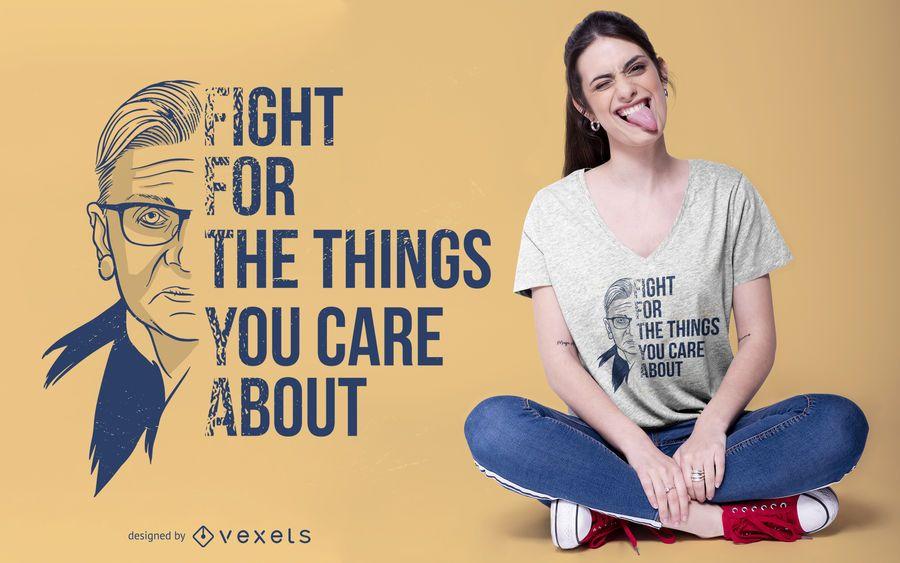Diseño de camiseta de Ruth Bader Ginsburg