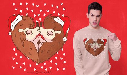 Weihnachtsigelt-shirt Entwurf