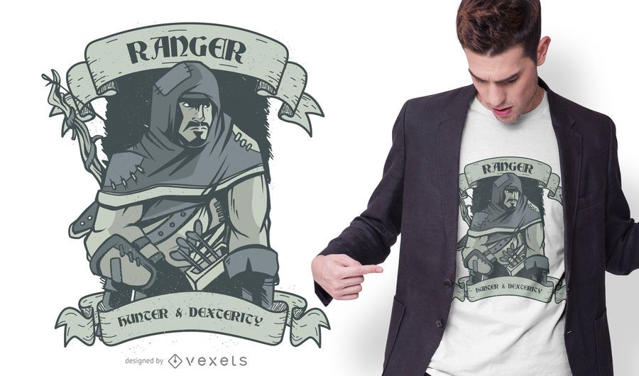 Design de t-shirt de guarda florestal
