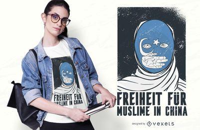 Diseño de camiseta de libertad para musulmanes