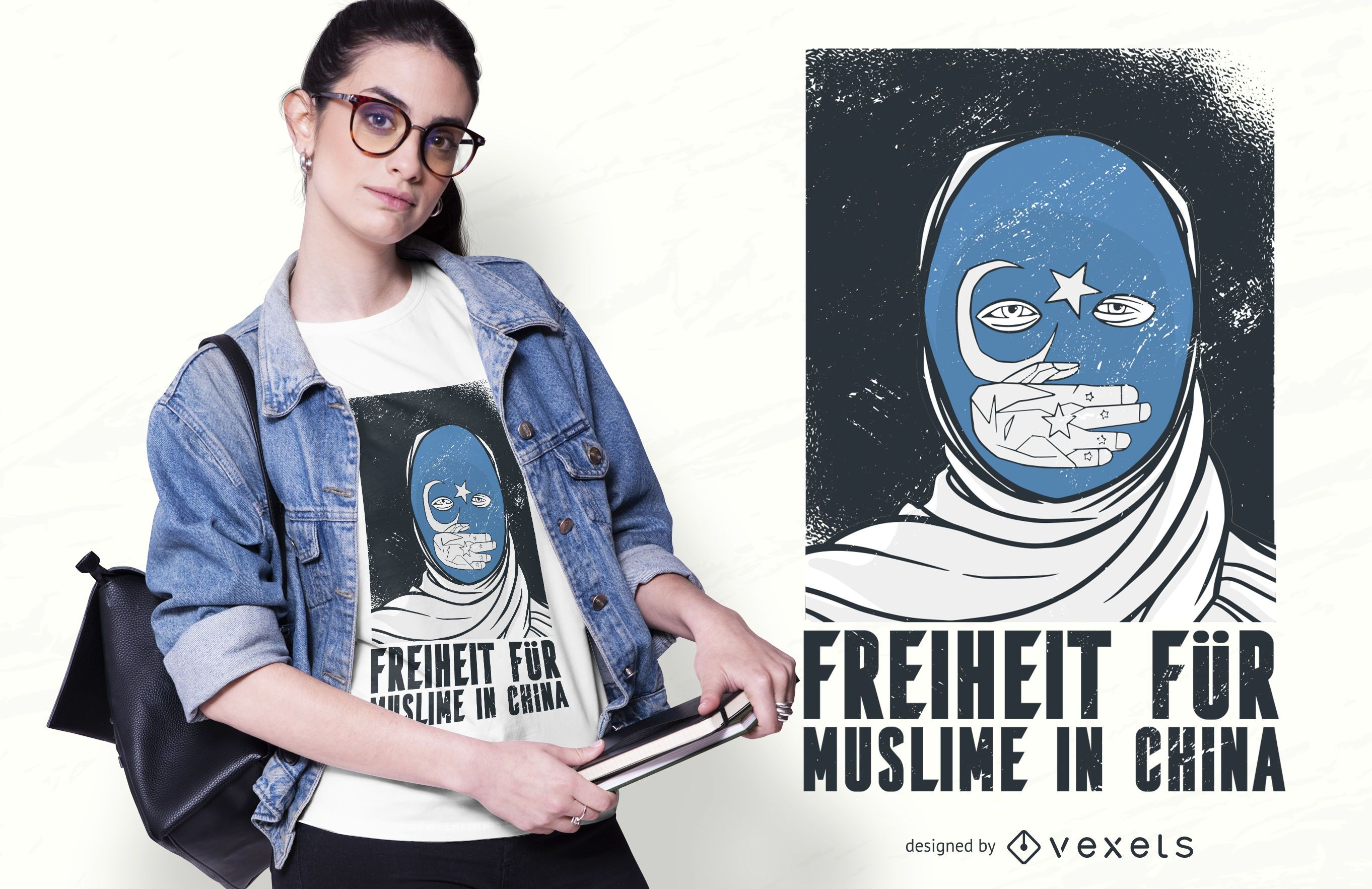 Freedom for muslims t-shirt design