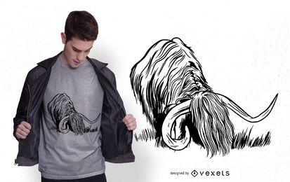 Hochlandzitat-T-Shirt Entwurf