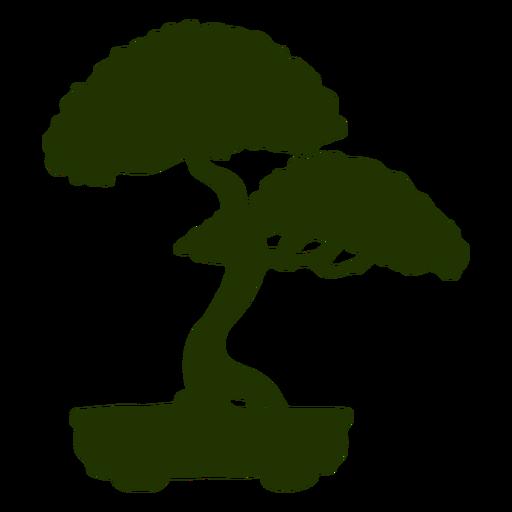 Silueta de bote de tronco de bonsai