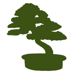 Bonsai tronco olla tallo silueta