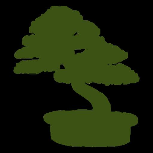 Bonsai trunk pot stem silhouette
