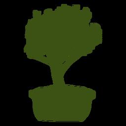 Bonsai tronco tronco olla silueta