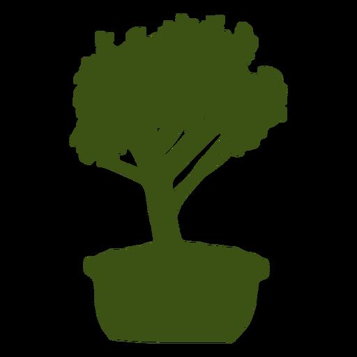 Bonsai trunk stem pot silhouette Transparent PNG