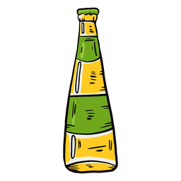 Bottle beer label flat