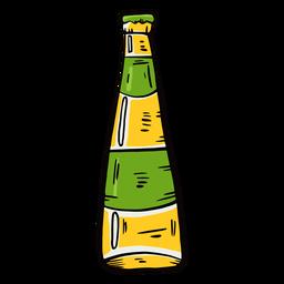 Flaschenbieretikett flach