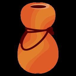 Botella recipiente plano