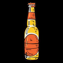 Etiqueta de botella cerveza plana