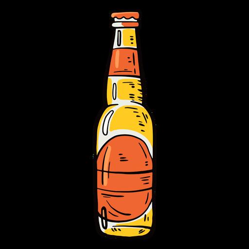 Bottle label beer flat Transparent PNG