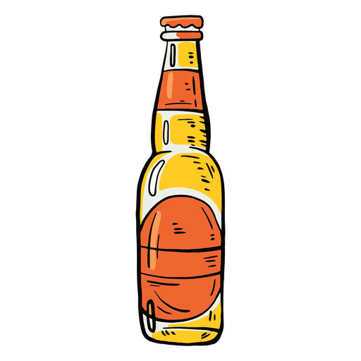 Etiqueta de botella cerveza plana Transparent PNG
