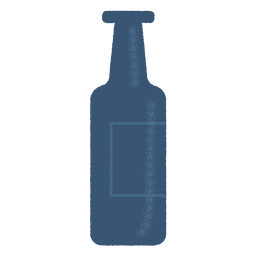 Bottle label detailed silhouette