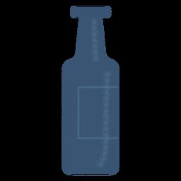 Flaschenetikett detaillierte Silhouette
