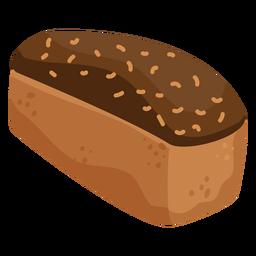 Bread loaf cream flat