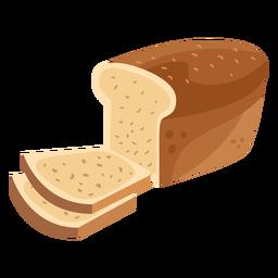 Fatia de pão pão plana
