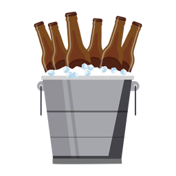 Bucket beer ice flat
