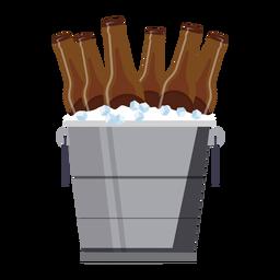 Eimer Bier Eis flach