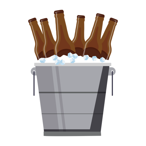 Bucket beer ice flat Transparent PNG