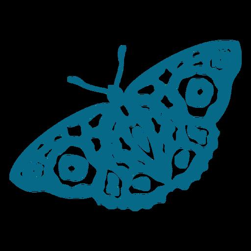 Mariposa antena ala silueta detallada Transparent PNG
