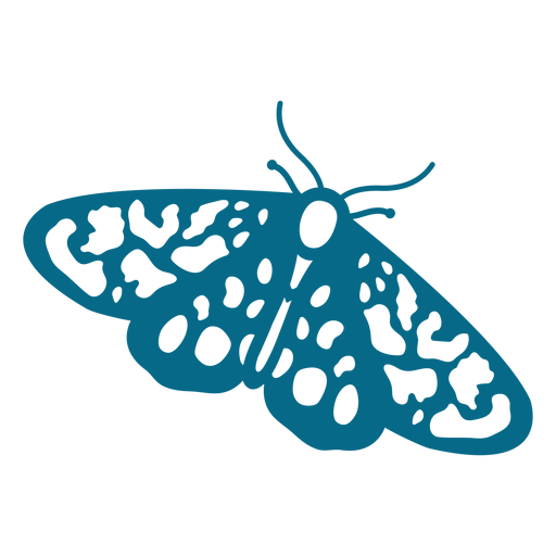 Butterfly wing antenna detailed silhouette Transparent PNG