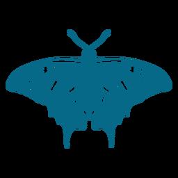 Silueta detallada de ala de mariposa